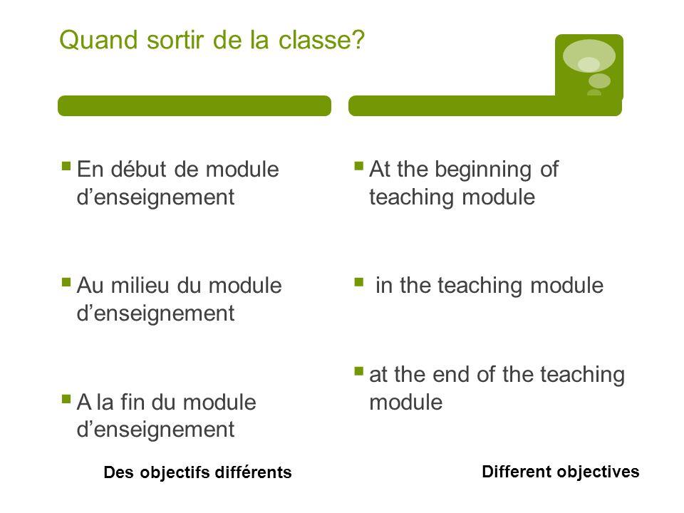 Comment sortir de la classe? How to get out of the class?