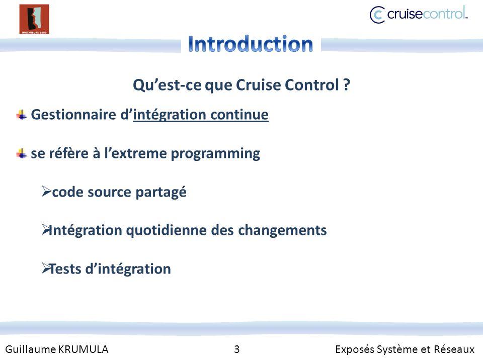 Guillaume KRUMULA 3 Exposés Système et Réseaux Quest-ce que Cruise Control .