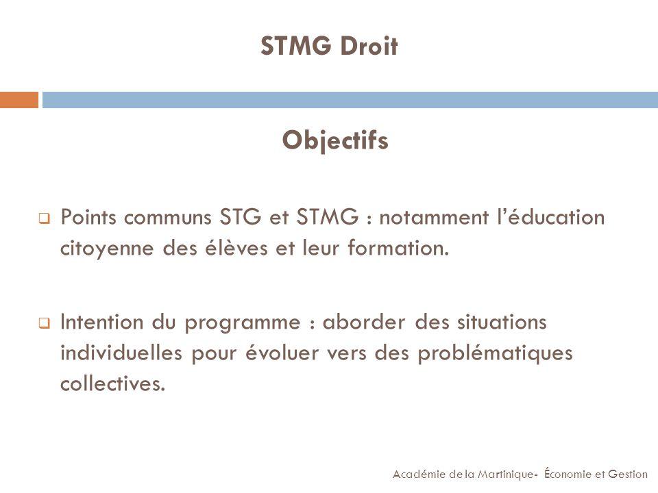 STMG Économie LE PROGRAMME ET LES OBJECTIFS (2/2) Exemple en partant dun document « managérial » : Thème : Comment se crée (et se répartit) la richesse… dans cette entreprise .
