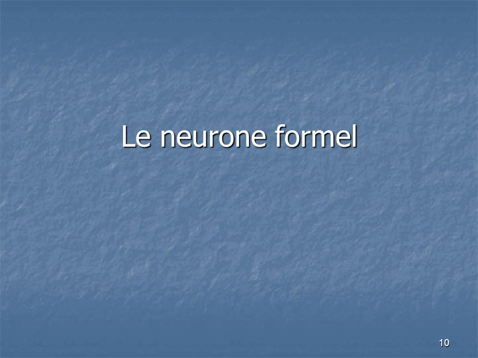 10 Le neurone formel