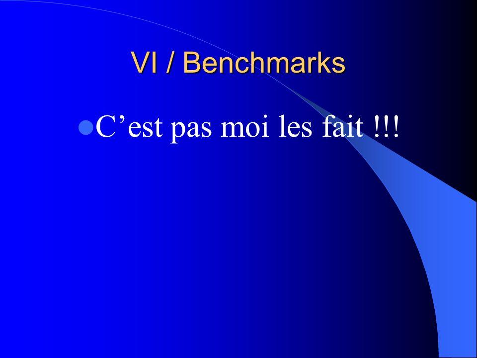 VI / Benchmarks Cest pas moi les fait !!!