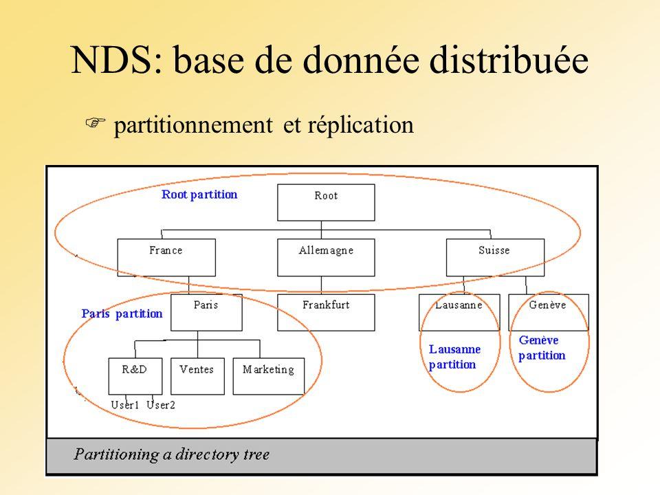 NDS: base de donnée distribuée partitionnement et réplication