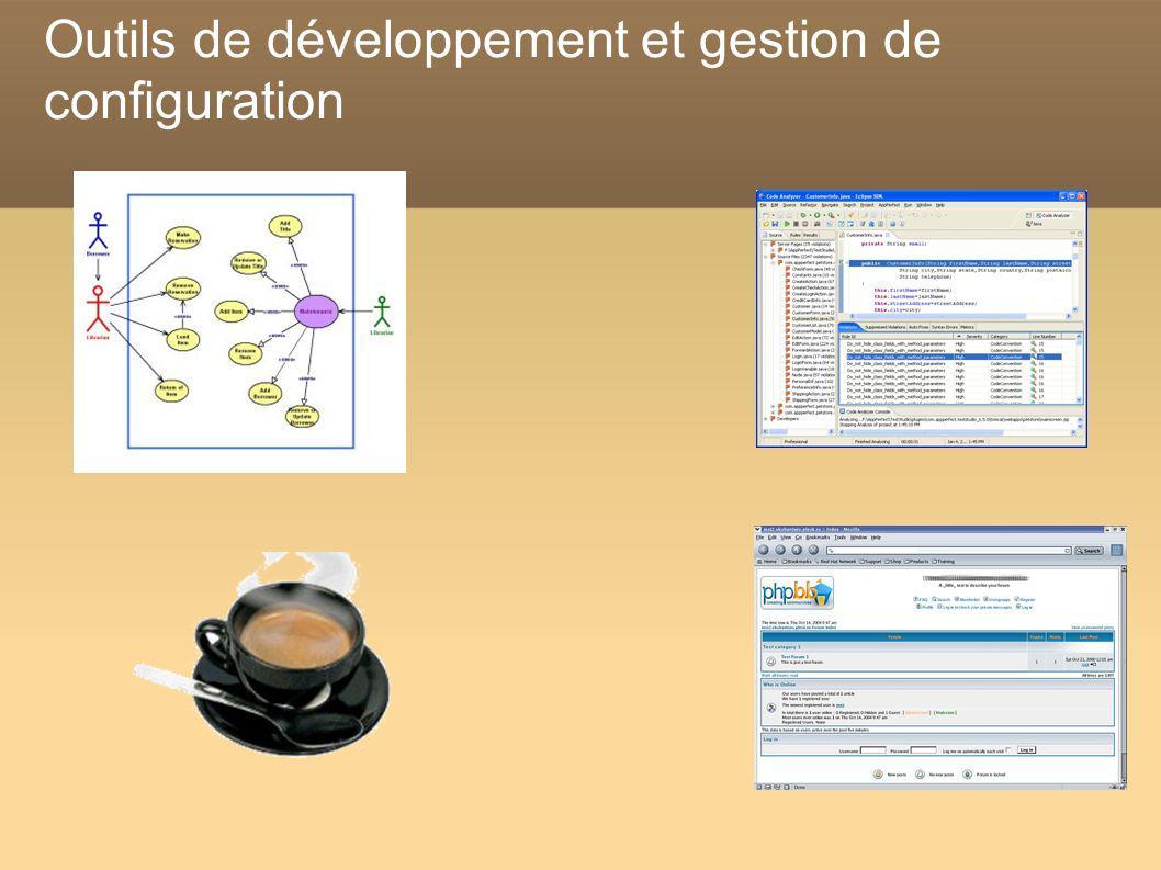 Outils de développement et gestion de configuration