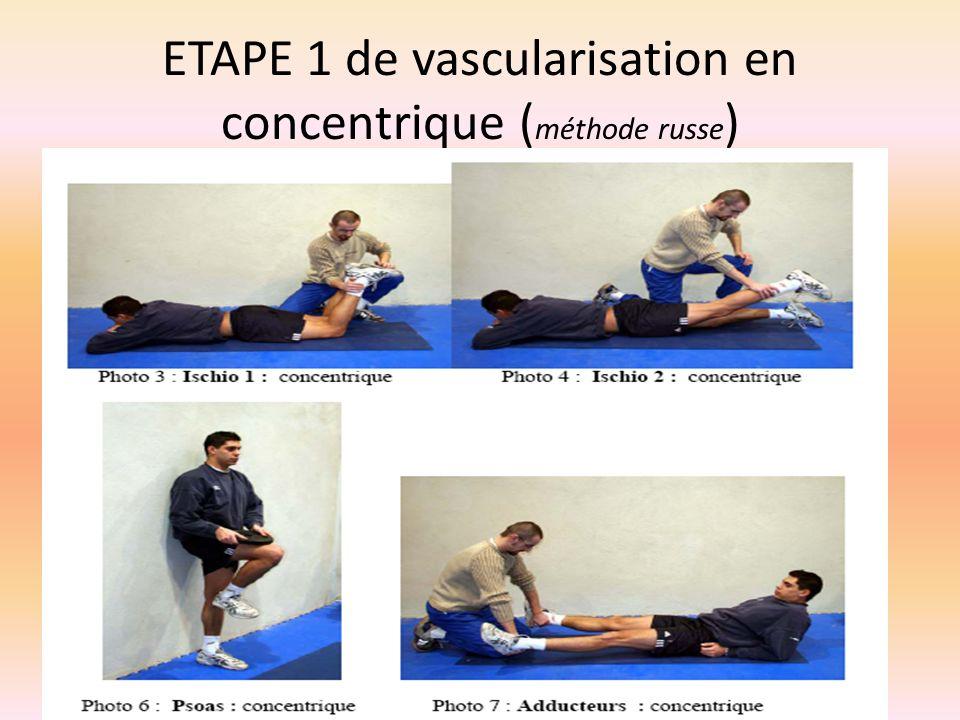 ETAPE 1 de vascularisation en concentrique ( méthode russe )