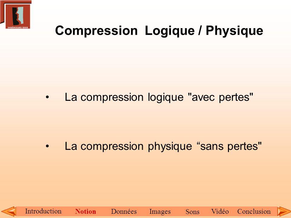 Compression Logique / Physique La compression logique