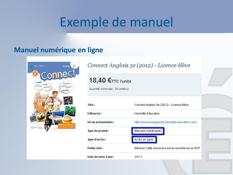 Typologie des manuels numériques Les tarifs pour les manuels numériques Adoptant/Prescripteur (i.e.