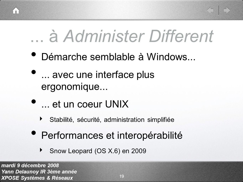 mardi 9 décembre 2008 Yann Delaunoy IR 3ème année XPOSE Systèmes & Réseaux...