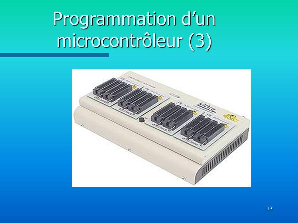 13 Programmation dun microcontrôleur (3)