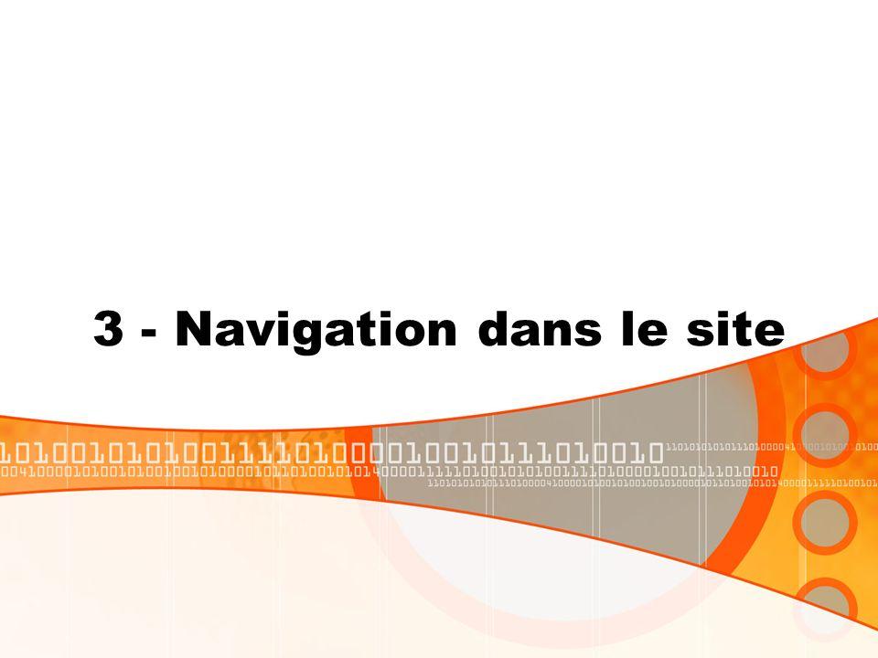 3 - Navigation dans le site