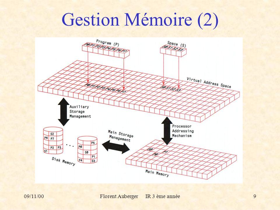 09/11/00Florent Auberger IR 3 ème année9 Gestion Mémoire (2)