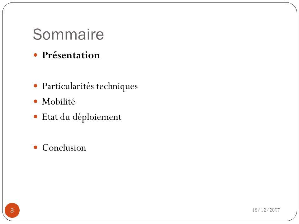 Présentation 18/12/2007 4 Historique Objectif Principe de fonctionnement Applications du Wimax
