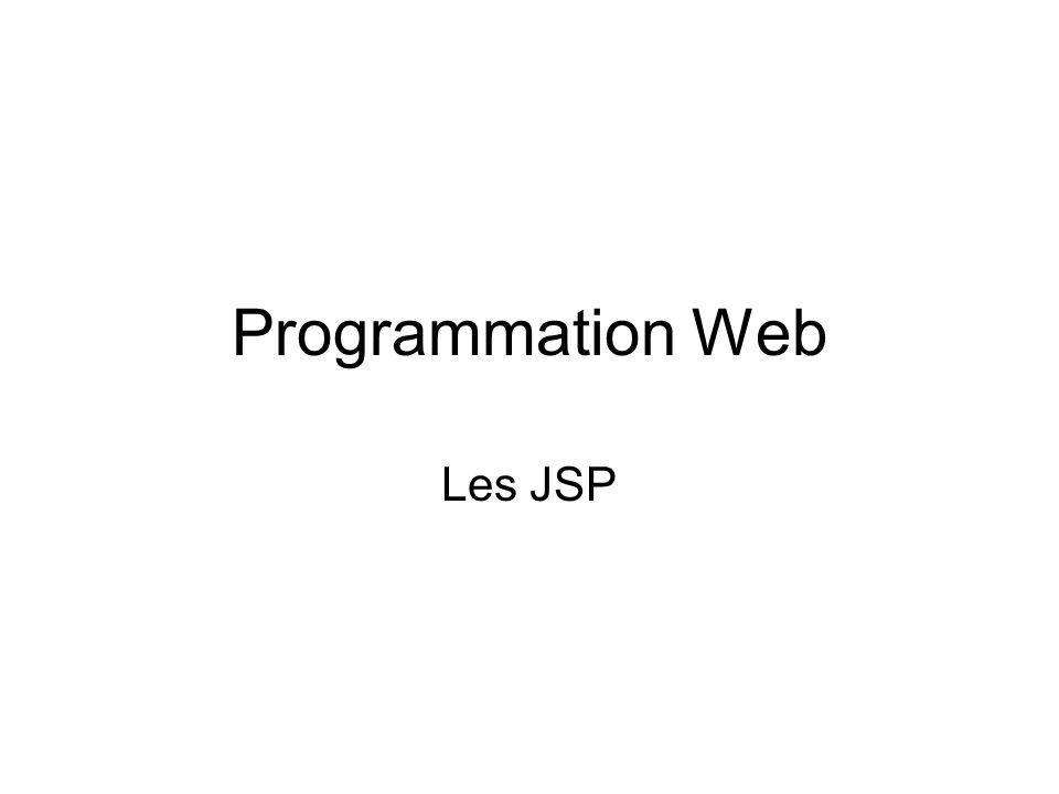 JSP et Objet (2) Utilisation dun objet dans une JSP <form enctype= application/x-www-form-urlencoded action= bean.jsp method=GET> Nom : package fr.umlv.jsp.demo; public class MyBean { public String getName() { return name; } public void setName(String name) { this.name= name; } private String name; } Récupère le paramètre username