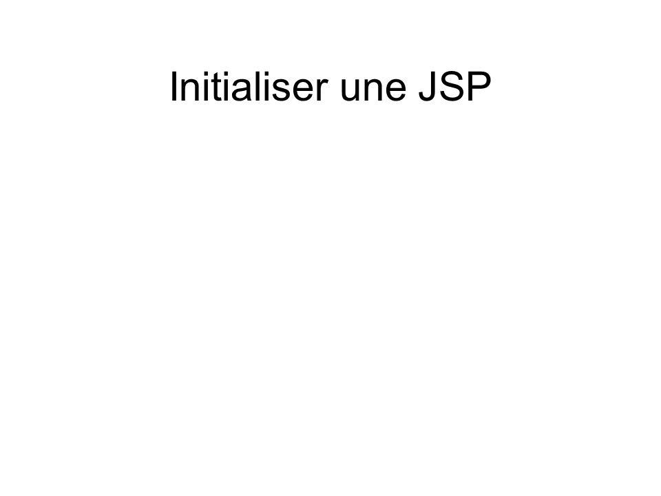 Initialiser une JSP