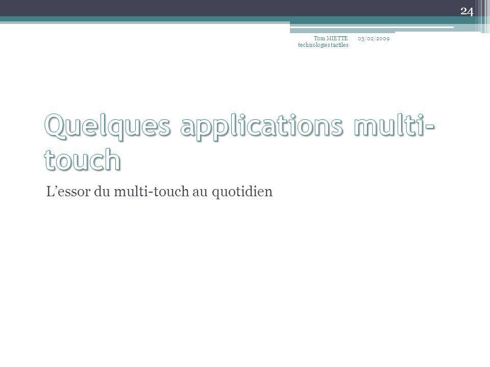 Lessor du multi-touch au quotidien 03/02/2009Tom MIETTE technologies tactiles 24