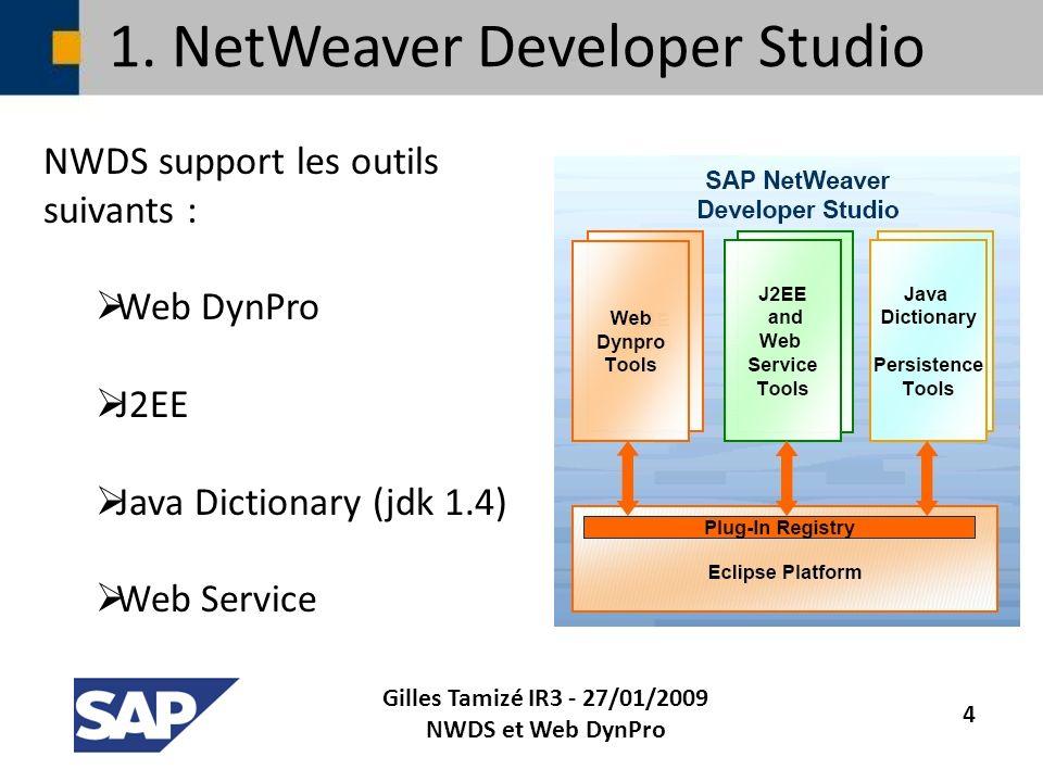 3.Projet Web DynPro avec NWDS 3.7.