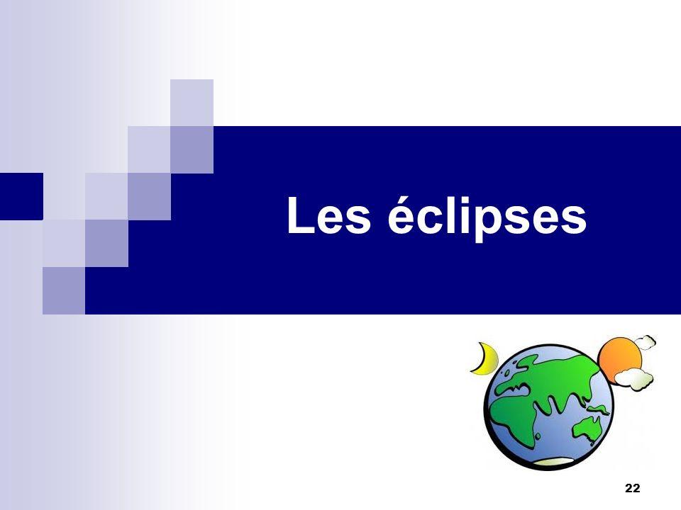 22 Les éclipses