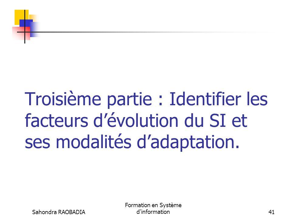 Sahondra RAOBADIA Formation en Système d'information40 Vos questions