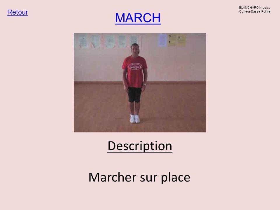 MARCH Retour BLANCHARD Nicolas Collège Basse-Pointe Description Marcher sur place