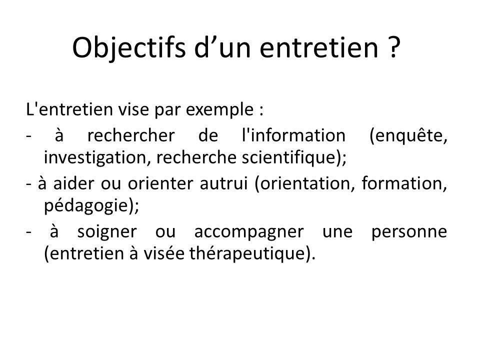 Exploiter son entretien Analyse des résultats Faire une transcription (Verbatim) de lenregistrement (éventuellement la faire vérifier par la personne interrogée).