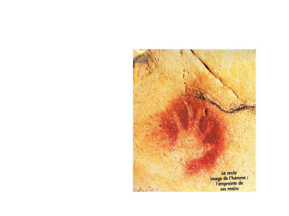 Pech- Merle (Lot) mains en négatif 25 000 ans