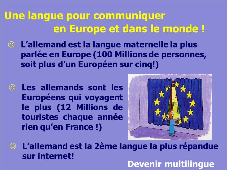 © Cers und Partner 2004 11 Lallemand est la 2ème langue la plus répandue sur internet.