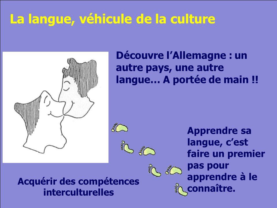 © Cers und Partner 2004 12 Apprendre sa langue, cest faire un premier pas pour apprendre à le connaître.