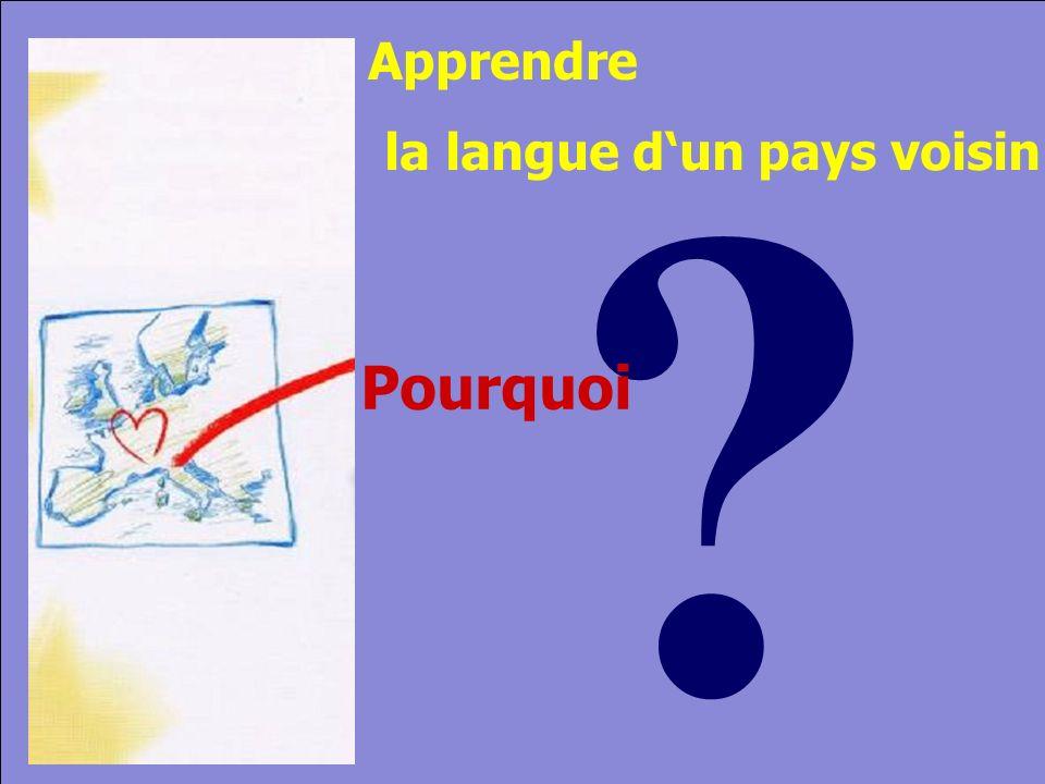 © Cers und Partner 2004 2 Pourquoi la langue dun pays voisin Apprendre