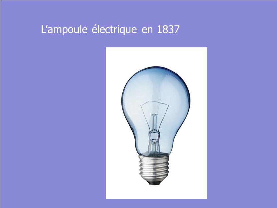 © Cers und Partner 2004 25 Lampoule électrique en 1837
