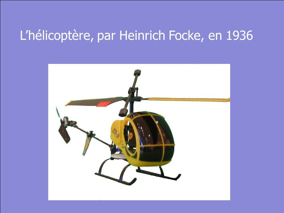 © Cers und Partner 2004 28 Lhélicoptère, par Heinrich Focke, en 1936