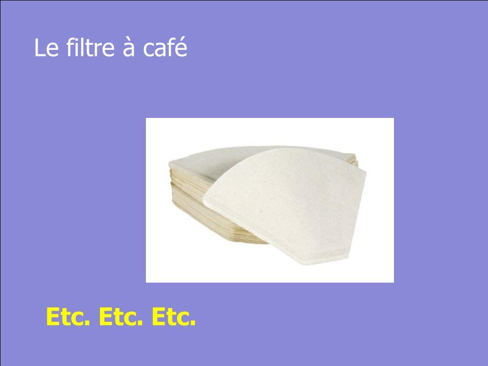 © Cers und Partner 2004 30 Le filtre à café Etc. Etc. Etc.