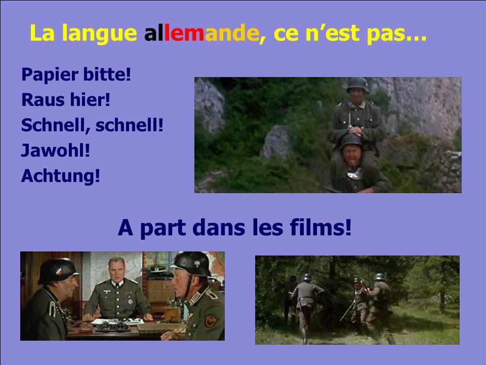 © Cers und Partner 2004 7 La langue allemande, ce nest pas… Papier bitte.