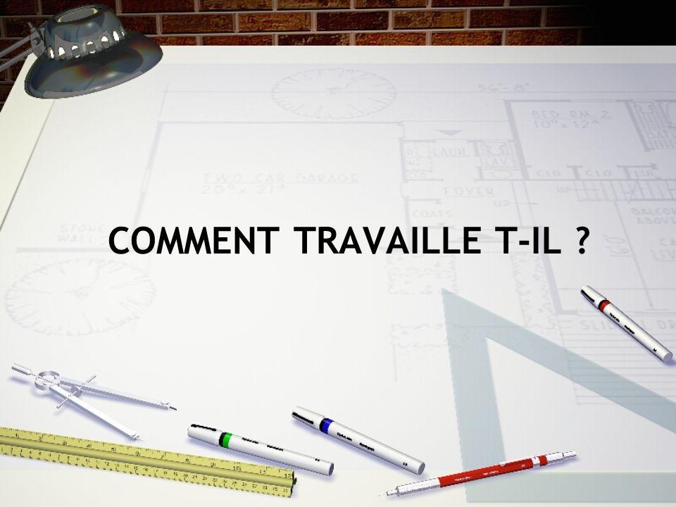 Conception du plan Il conçoit et dessine aussi bien les façades dun bâtiment que ses cloisons Le mobilier Léclairage Et même le sens de la circulation dans les bâtiments