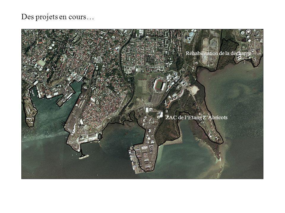 Des projets en cours… ZAC de lEtang ZAbricots Réhabilitation de la décharge