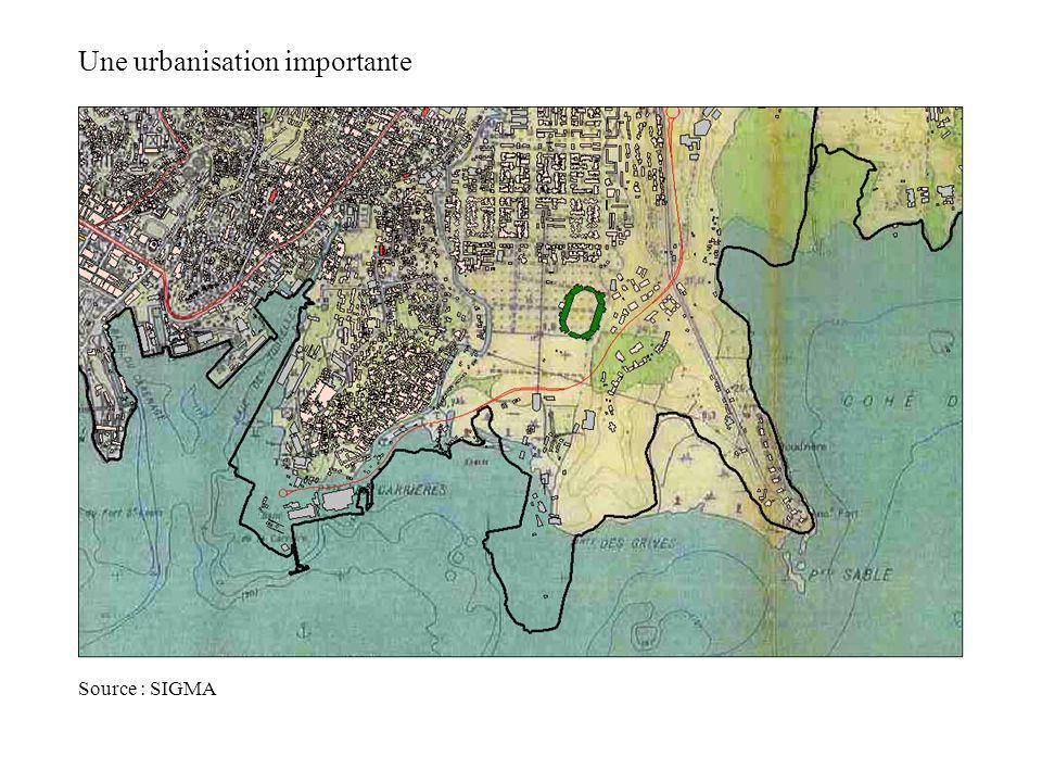 Une urbanisation importante Source : SIGMA