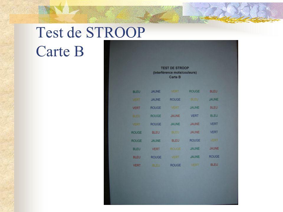 Test de STROOP Carte C