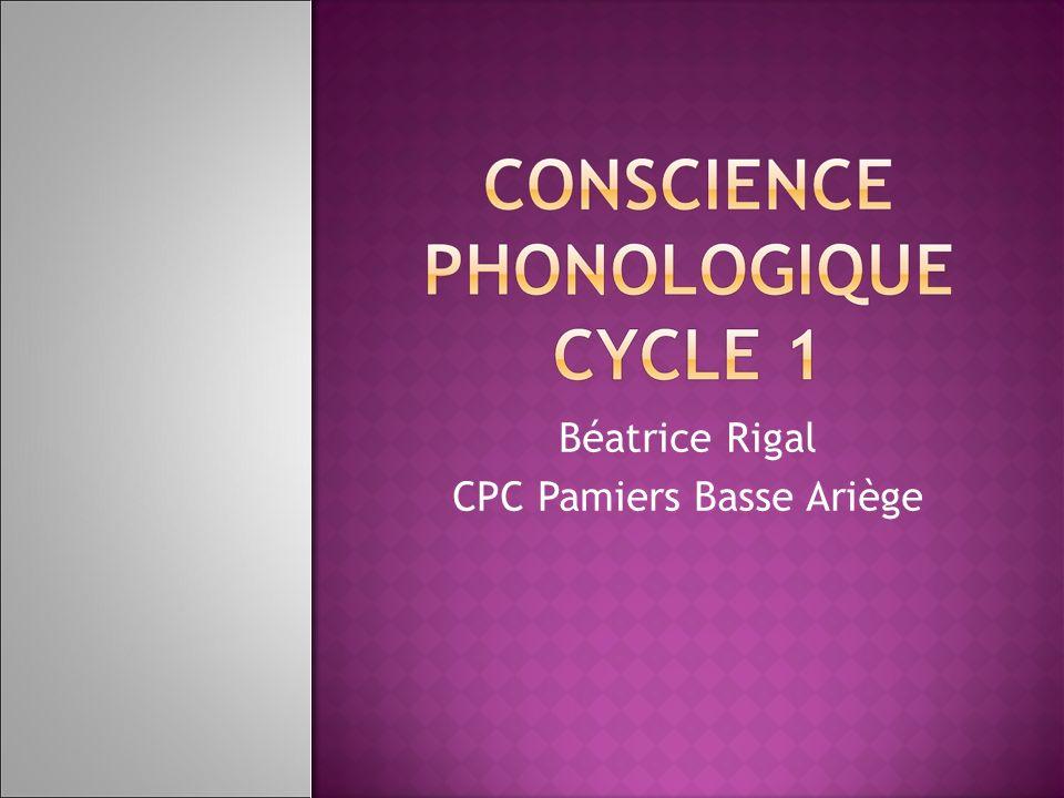 Il est plus facile de reconnaître des syllabes que des phonèmes.