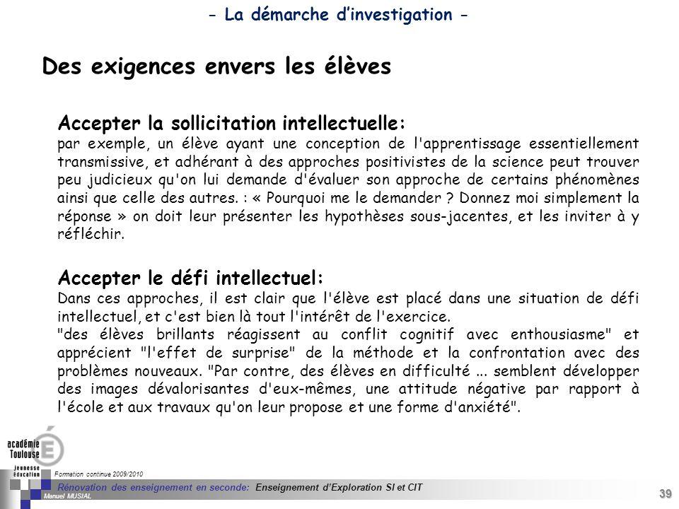 39 Séminaire « Définition de Produits » : méthodologie de définition dune pièce GREC INITIALES Formation continue 2009/2010 39 Rénovation des enseigne