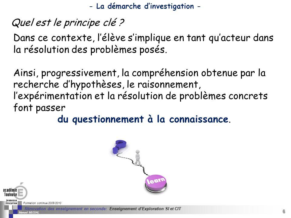 6 Séminaire « Définition de Produits » : méthodologie de définition dune pièce GREC INITIALES Formation continue 2009/2010 6 Rénovation des enseigneme