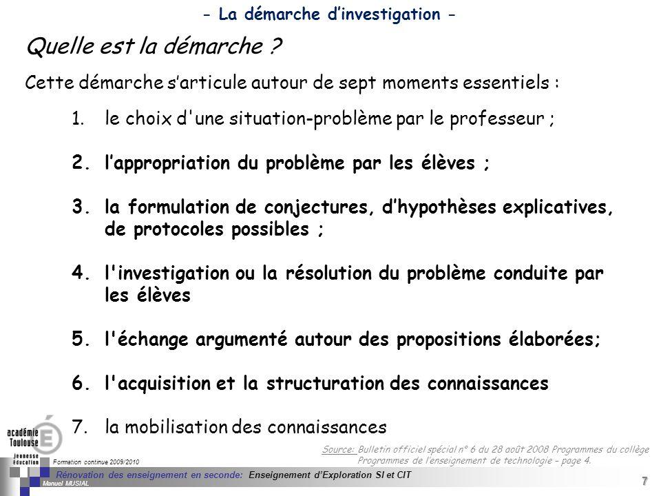 7 Séminaire « Définition de Produits » : méthodologie de définition dune pièce GREC INITIALES Formation continue 2009/2010 7 Rénovation des enseigneme