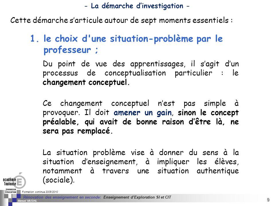 9 Séminaire « Définition de Produits » : méthodologie de définition dune pièce GREC INITIALES Formation continue 2009/2010 9 Rénovation des enseigneme