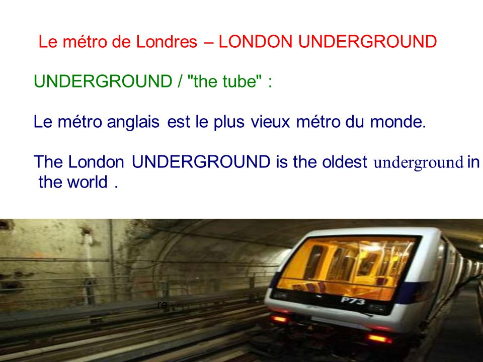 28/01/2014 Le métro de Londres – LONDON UNDERGROUND UNDERGROUND /