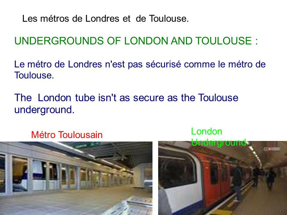 Métro Toulousain Toulousain toulousainémtro Toulousain Toulousaino toulousain28/01/201428/01/2014mmm Les métros de Londres et de Toulouse. UNDERGROUND