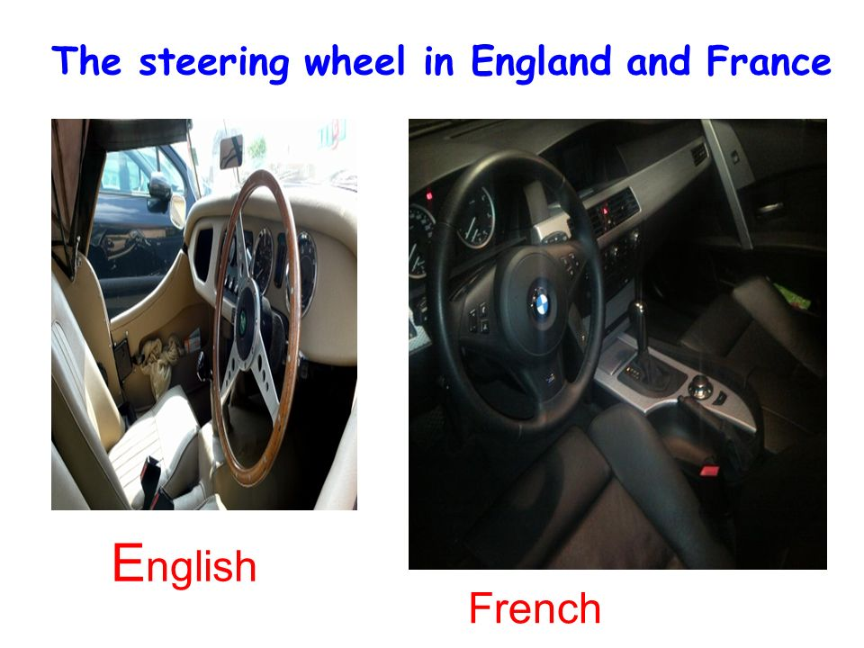 28/01/2014 E nglish French The steering wheel in England and France