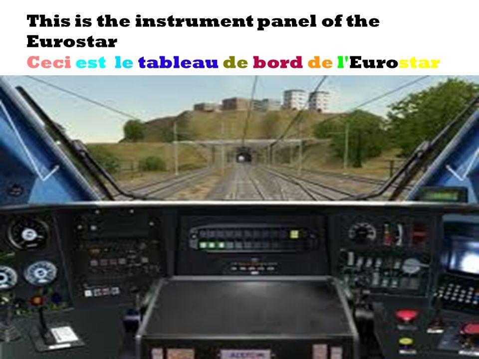 28/01/2014 This is the instrument panel of the Eurostar Ceci est le tableau de bord de l'Eurostar