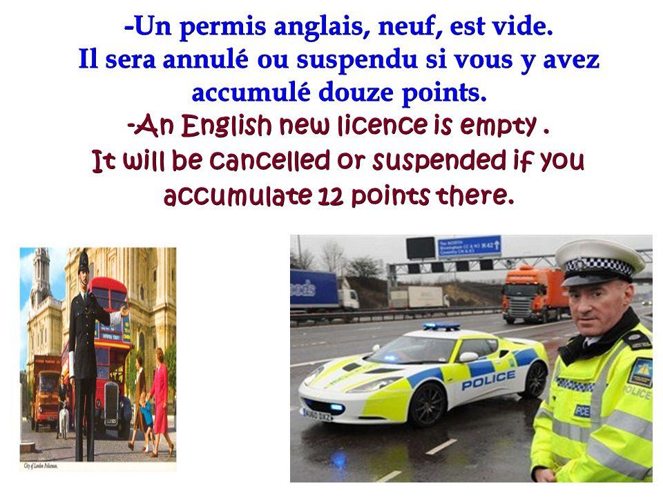28/01/2014 -Un permis anglais, neuf, est vide. Il sera annulé ou suspendu si vous y avez accumulé douze points. -An English new licence is empty. It w
