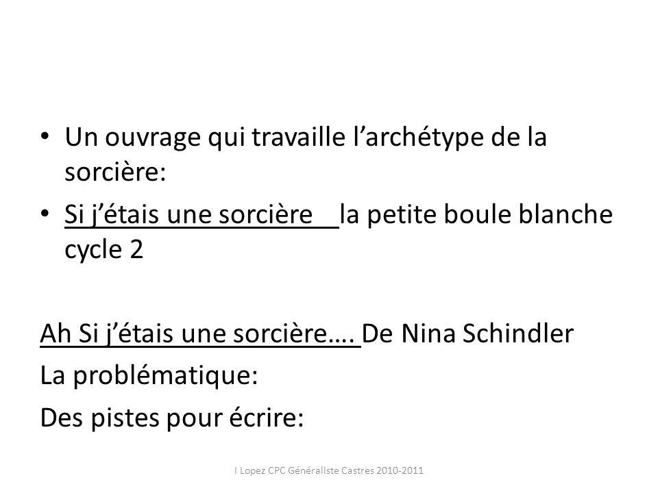 Un ouvrage qui travaille larchétype de la sorcière: Si jétais une sorcière la petite boule blanche cycle 2 Ah Si jétais une sorcière…. De Nina Schindl