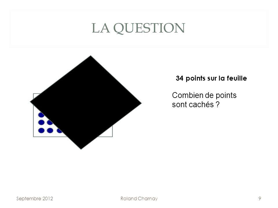 LA QUESTION Septembre 2012Roland Charnay9 34 points sur la feuille Combien de points sont cachés ?