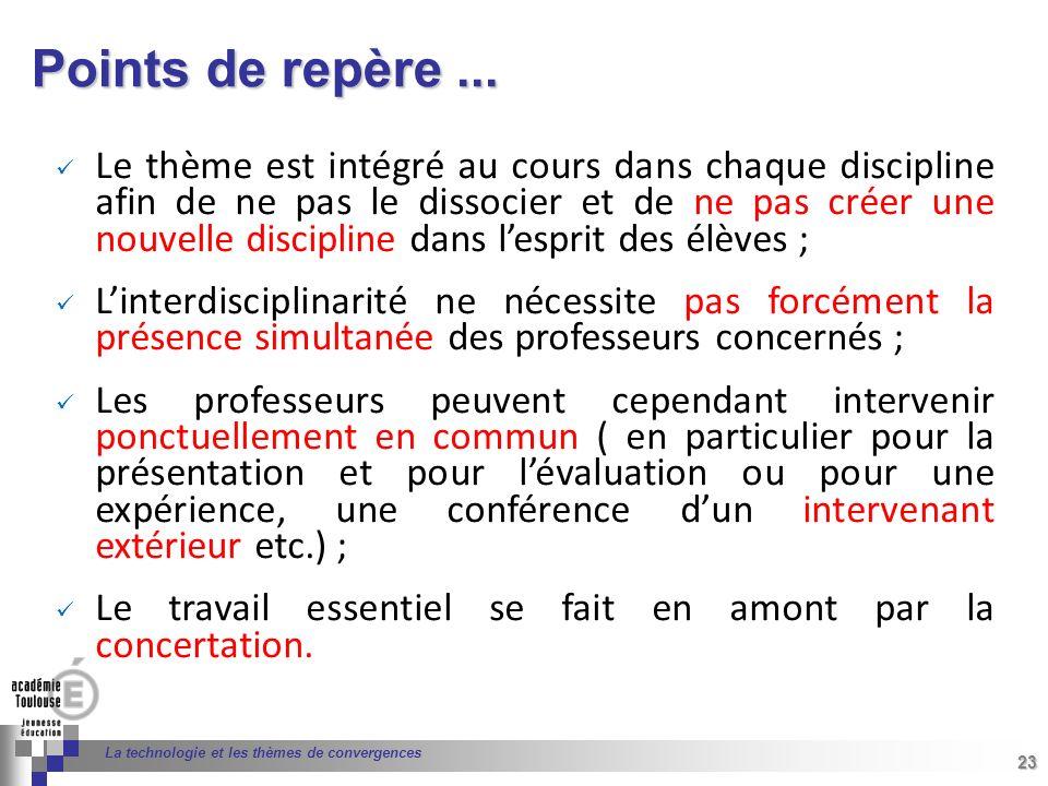 23 Séminaire « Définition de Produits » : méthodologie de définition dune pièce GREC INITIALES 23 La technologie et les thèmes de convergences Le thèm
