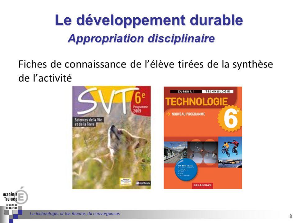 8 Séminaire « Définition de Produits » : méthodologie de définition dune pièce GREC INITIALES 8 La technologie et les thèmes de convergences Le dévelo