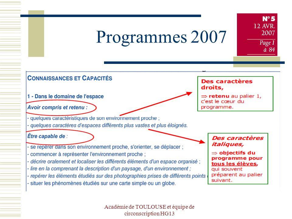 Programmes 2007